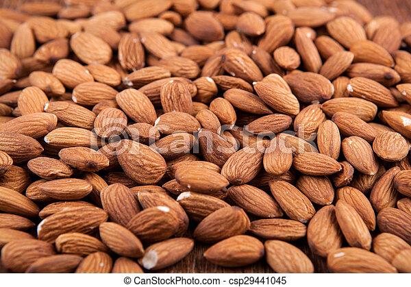 Grain almonds on close up - csp29441045