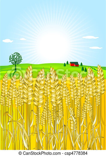 Wheat Silhouette Clip Art - Wheat Field Silhouette Png , Free Transparent  Clipart - ClipartKey