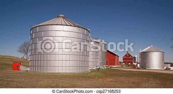 Grain Storage Bins Farm Food Silo Agricultural Property