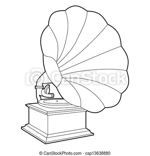 gramophone - csp13638880