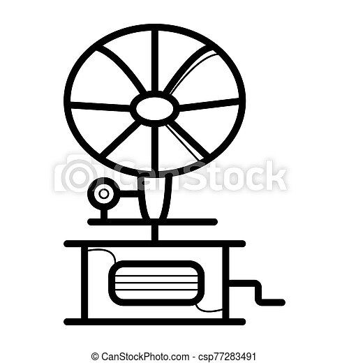 gramophone icon vector can stock photo