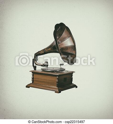 Gramophone - csp22315497