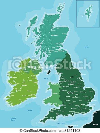 Cartina Irlanda Da Colorare.Gran Bretagna Colorare Mappa Grande Colorare Gran Bretagna Mappa Irlanda Canstock