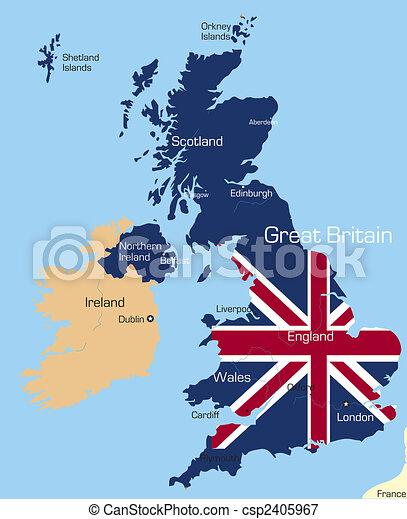 Gran Bretagna Cartina Da Colorare.Gran Bretagna Grande Colorare Astratto Grande Bandiera Nazionale Gran Bretagna Mappa Paese Colorato Canstock