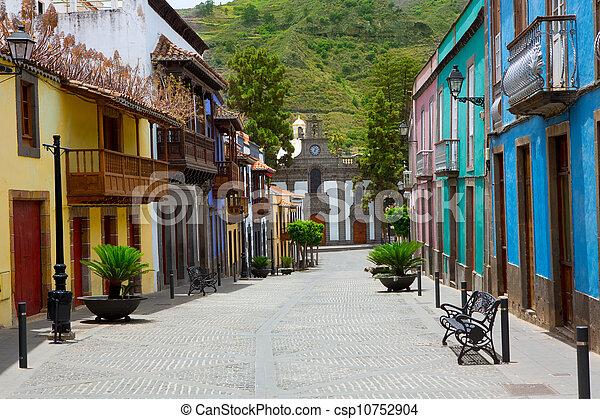 Gran Canaria Teror colorful facades - csp10752904