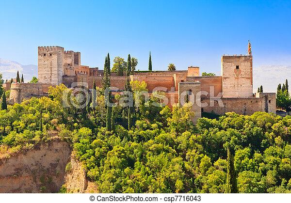 granada, pałac, alhambra, hiszpania - csp7716043