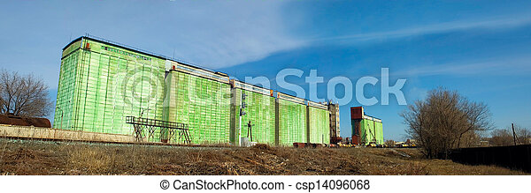 granary warehouse building Russian view - csp14096068