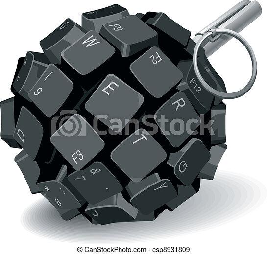 granat, tangentbord - csp8931809