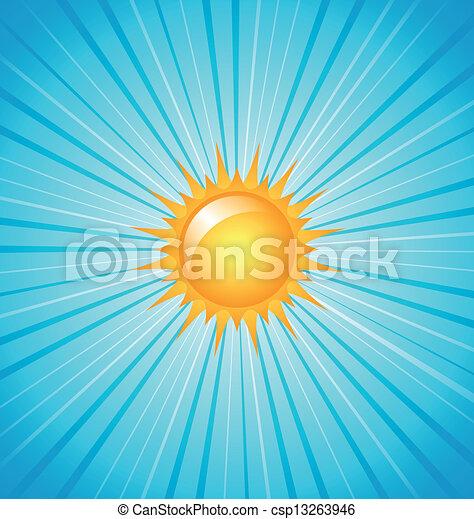 grand, briller, soleil - csp13263946