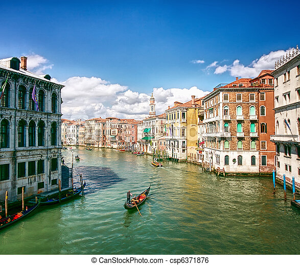 Grand Canal in Venice, Italy  - csp6371876