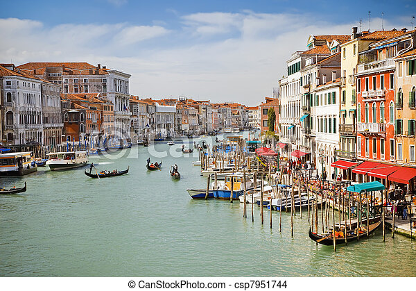 Grand canal in Venice - csp7951744