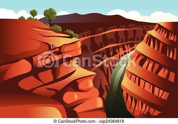 Grand Canyon background - csp24364818