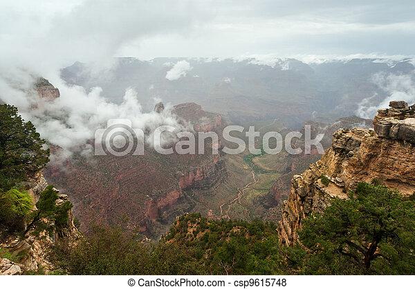 Grand Canyon Cloud Inversion Landscape - csp9615748