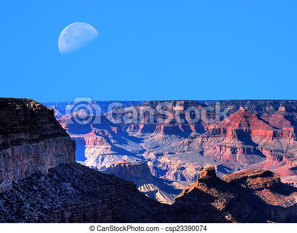 Grand Canyon Moon - csp23390074