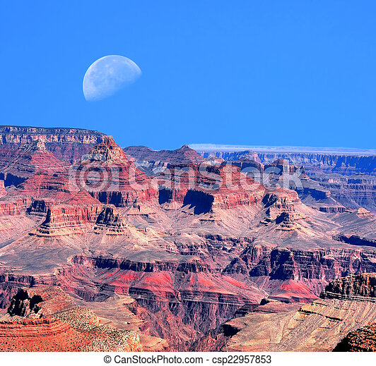 Grand Canyon Moon - csp22957853
