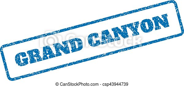 grand canyon rubber stamp blue rubber seal stamp with grand rh canstockphoto ie  grand canyon clipart