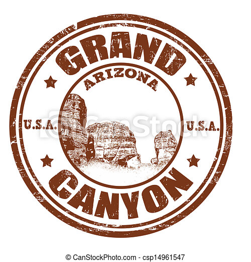 grand canyon stamp grunge rubber stamp with the name of the eps rh canstockphoto com grand canyon clip art free grand canyon clip art free