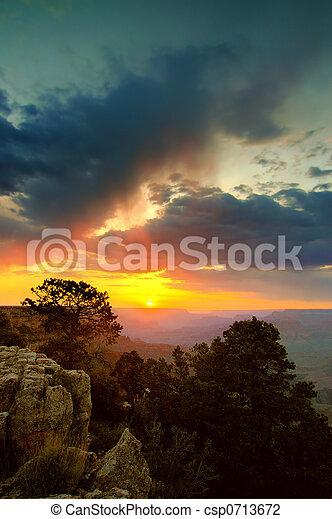 Grand canyon Sunset - csp0713672