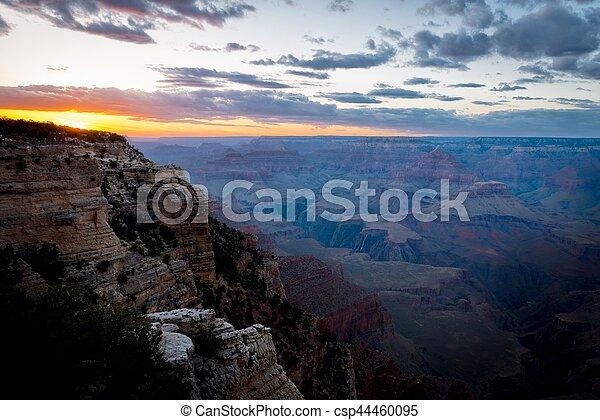 Grand Canyon sunset - csp44460095