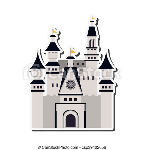 grand, château, icône - csp39402656