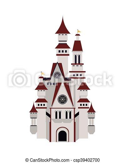 grand, château, icône - csp39402700