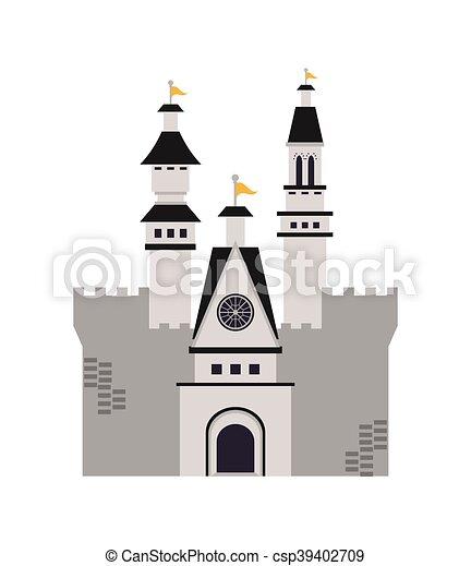 grand, château, icône - csp39402709