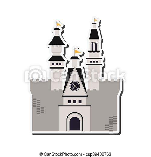 grand, château, icône - csp39402763