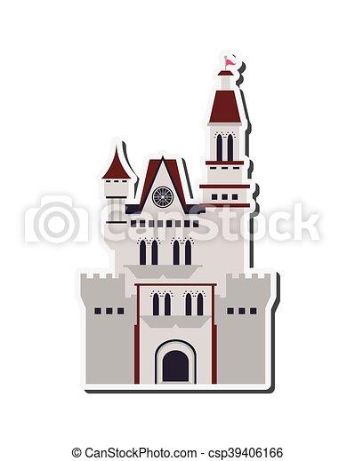 grand, château, icône - csp39406166