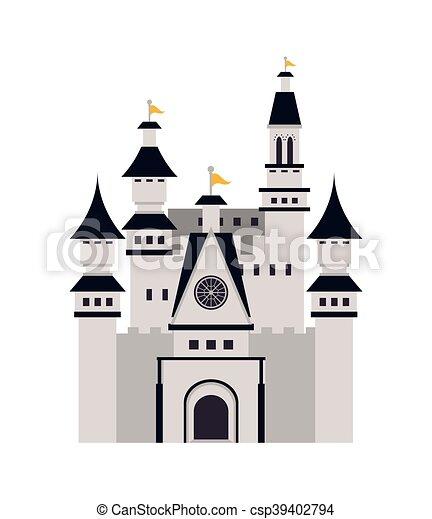 grand, château, icône - csp39402794
