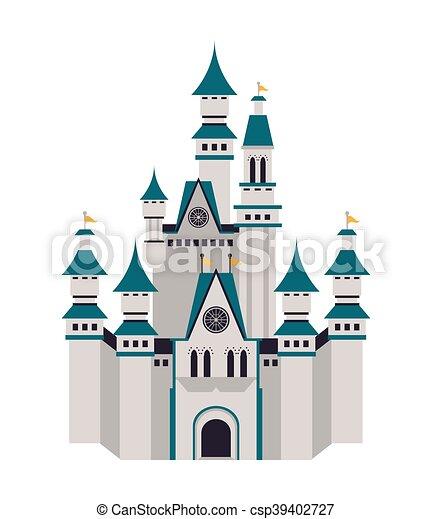 grand, château, icône - csp39402727