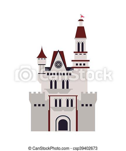 grand, château, icône - csp39402673