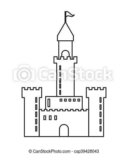 grand, château, icône - csp39428043