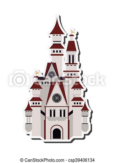grand, château, icône - csp39406134