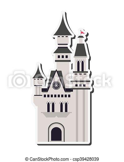 grand, château, icône - csp39428039