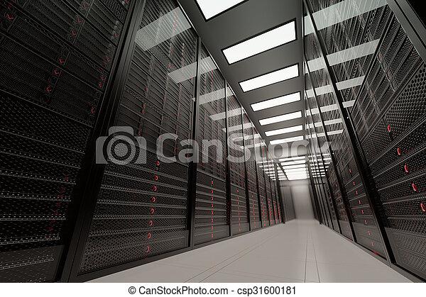 grand, données, salle, serveurs - csp31600181