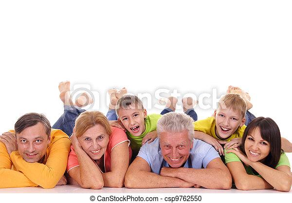 grand, famille, mensonge - csp9762550