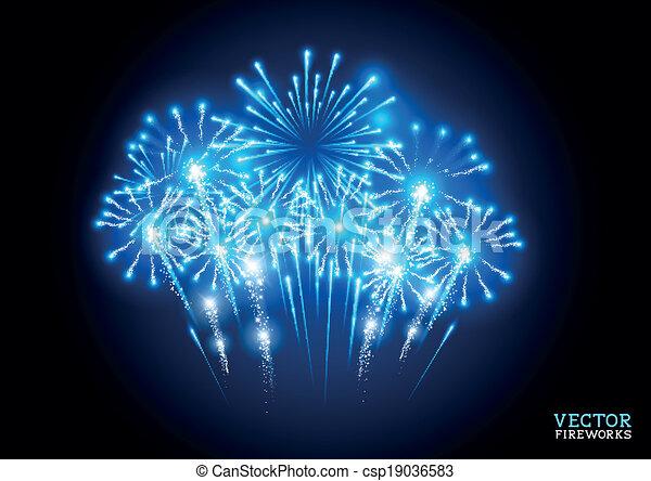 grand, feu d'artifice - csp19036583