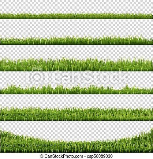 grand, frontière, ensemble, herbe - csp50089030