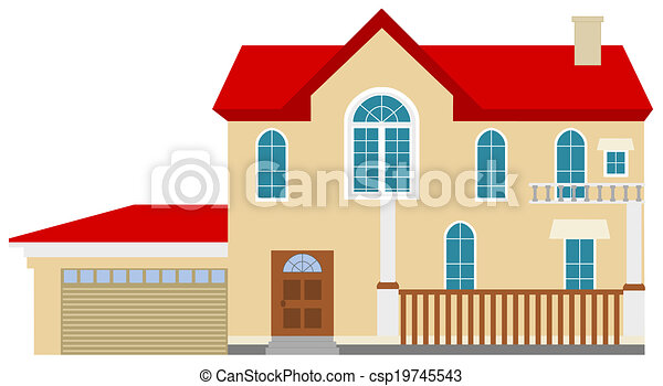 Grand, gentil, réaliste, maison.