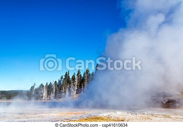 Grand Geyser Eruption - csp41610634