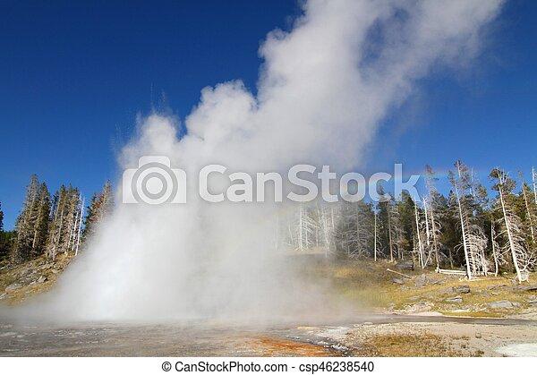 Grand Geyser in Yellowstone - csp46238540