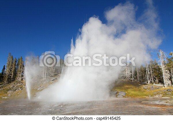Grand Geyser in Yellowstone - csp49145425