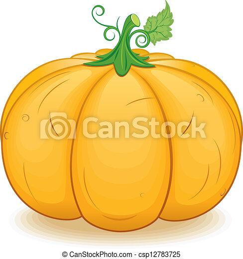 grand, image, vecteur, ornage, pumpkin. - csp12783725