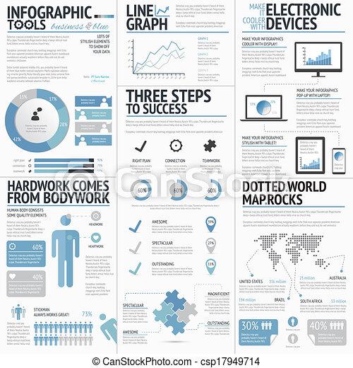 grand, infographic, ensemble, éléments - csp17949714