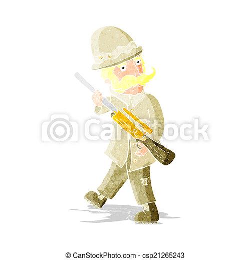 grand, jeu, chasseur, dessin animé - csp21265243