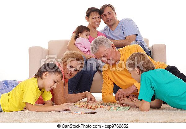 grand, jouer, famille - csp9762852