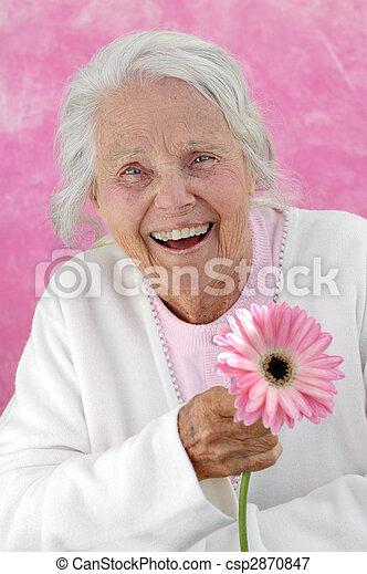 grand-mère, grand, rire - csp2870847