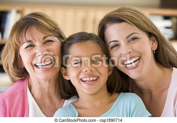 grand-mère, petite-fille, fille, adulte - csp1890714
