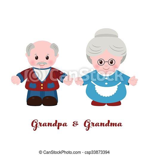 Grand m re style grand p re dessin anim 10 vieux gens eps illustration dessin anim - Dessin grand pere ...