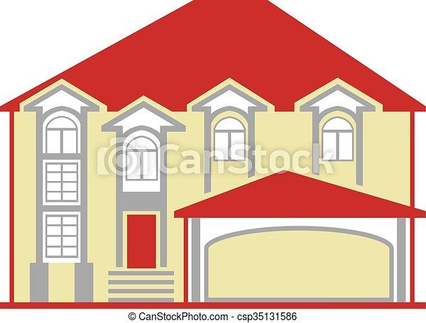 grand, maison - csp35131586